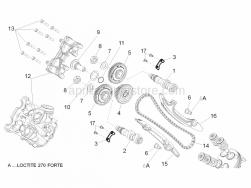 Engine - Front Cylinder Timing System - Aprilia - Front exhaust camshaft