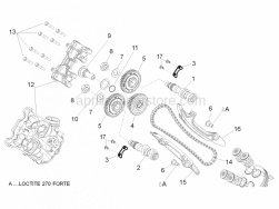 Engine - Front Cylinder Timing System - Aprilia - Timing system gear cpl.