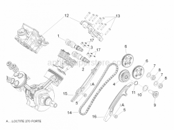 Engine - Rear Cylinder Timing System - Aprilia - Rear timing system gear cpl.