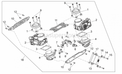 Engine - Throttle Body - Aprilia - Gasket