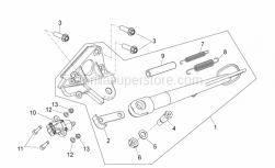 Frame - Central Stand - Aprilia - Curved spring washer *