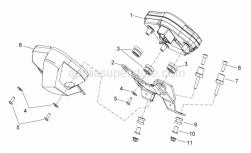 Frame - Dashboard - Aprilia - Filter housing rubber