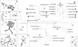 Frame - Electrical System I - Aprilia - Nut