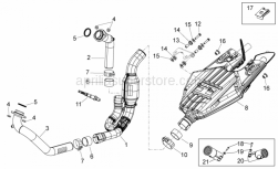 Frame - Exhaust Unit - Aprilia - LH TERMINAL PART