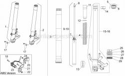 Frame - Fron Fork II - Aprilia - Screw w/ flange M8x40