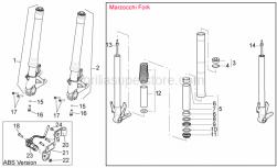 Frame - Front Fork III - Aprilia - Self-locking nut m5