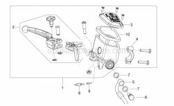 Frame - Front Master Cilinder - Aprilia - U-bolt