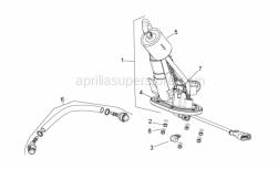 Frame - Fuel Pump - Aprilia - Brake hose hanger