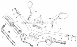 Frame - Handlebar - Controls - Aprilia - Screw M8x25 INOX