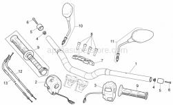 Frame - Handlebar - Controls - Aprilia - Handgrip pair, black