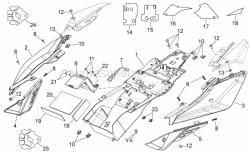 Frame - Rear Body I - Aprilia - RH rear fairing