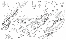 Frame - Rear Body I - Aprilia - Support rubber part