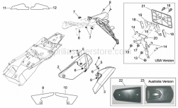 Frame - Rear Body III - Aprilia - Number plate support