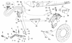 Frame - Rear Brake System - Aprilia - Screw w/ flange M6x20
