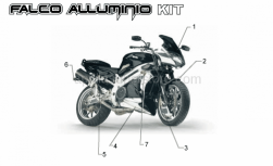 Accessories - Acc. - Special Body Parts - Aprilia - Front mudguard alu