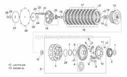 Engine - Clutch - Aprilia - Springholder plate