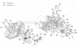 Engine - Crankcases I - Aprilia - Ball bearing 6205