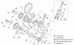 Engine - Crankshaft I - Aprilia - Water pump gear