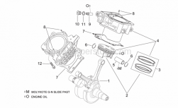 Engine - Crankshaft Ii - Aprilia - Piston assy 96,956 mm (B)