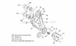 Engine - Front Cylinder Timing System - Aprilia - Timing system gear