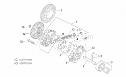 Engine - Oil Pump - Aprilia - Internal and external rotor