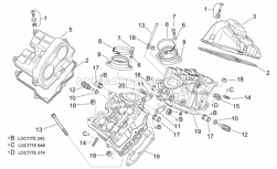 Engine - Valves Cover - Aprilia - Spacer screw cpl.