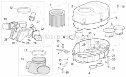 Frame - Air Box - Aprilia - Filter case front. supp.