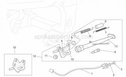 Frame - Central Stand - Aprilia - Screw w/ flange M6x20