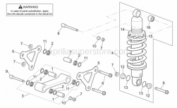 Frame - Connecting Rod - Rear Shock Abs. - Aprilia - Self-locking nut