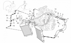 Frame - Cooling System - Aprilia - Thermostat-pump pipe