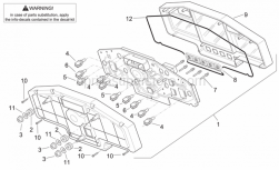 Frame - Dashboard - Aprilia - Lampholder, complete 12V-3W