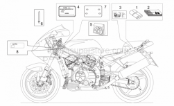 Frame - Decal And Plate Set - Aprilia - Decal set
