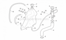 Frame - Expansion Tank - Aprilia - Hose clip, green D11x6,6x1