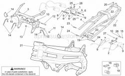 Frame - Frame I - Aprilia - Screw w/ flange M6x25