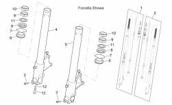 Frame - Fron Fork Ii - Aprilia - Bush D.47,1xd.43xh.20