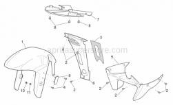 Frame - Front Body - Front Mudguard - Aprilia - Cooler spoiler, grey