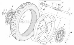 Frame - Front Wheel - Aprilia - Front wheel, grey