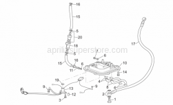 Frame - Fuel Pump II - Aprilia - Screw w/ flange
