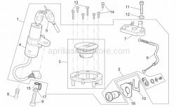 Frame - Lock Hardware Kit - Aprilia - Aprilia milled key