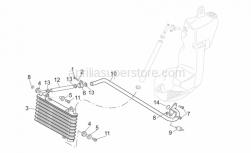 Frame - Oil Radiator - Aprilia - White hose clip D17,5x8