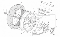 Frame - Rear Wheel - Aprilia - Low self-locking nut