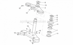Frame - Steering - Aprilia - Screw w/ flange