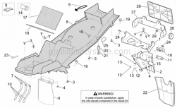 Frame - Rear Body - Undersaddle - Aprilia - Number plate support