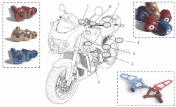 Accessories - Acc. - Cyclistic Components II - Aprilia - Toe guard, pair Ergal-Oro
