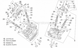Engine - Cylinder Head And Valves - Aprilia - Valve spring plate