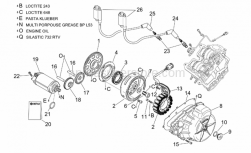 Engine - Ignition Unit - Aprilia - Starter motor cpl.