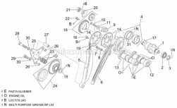 Engine - Rear Cylinder Timing System - Aprilia - Chain guide