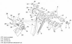 Engine - Rear Cylinder Timing System - Aprilia - Nut m14