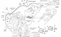 Frame - Central Electrical System - Aprilia - Main wiring harness