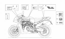 Frame - Decal Op.Handbooks And Plate Set - Aprilia - Constructor dataplate